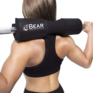 Workout Set for Women - Barbell Pad for Hip Thrust and Squats
