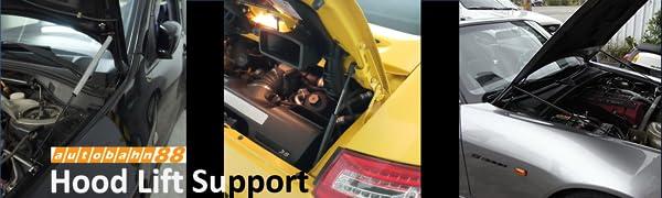 hood lift support, lifter, damper