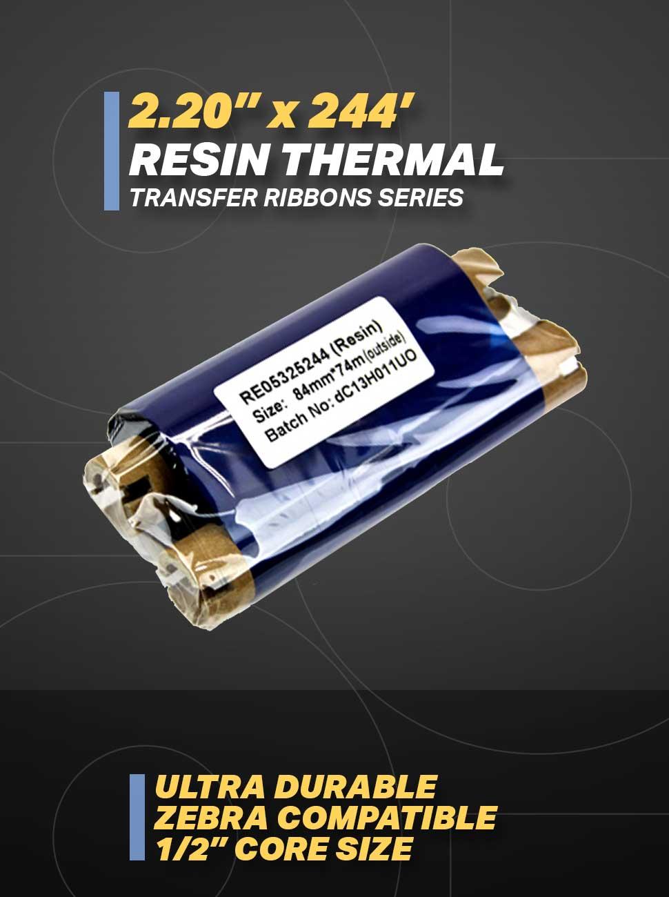 zebra resin thermal