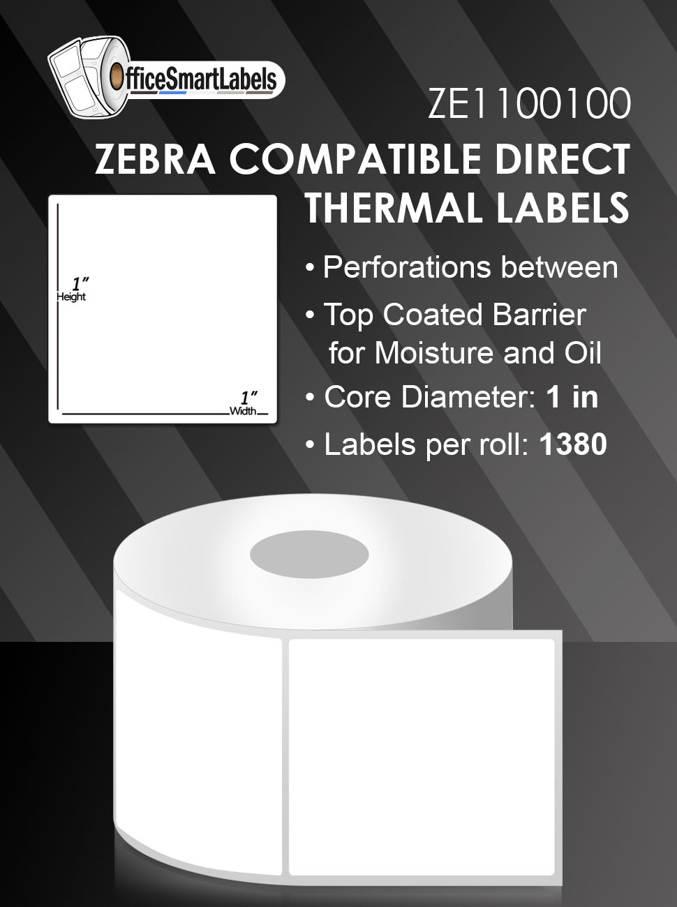 Amazon Com 1x1 Direct Thermal Labels For Zebra Gc420d