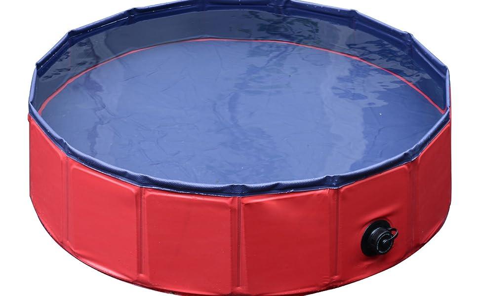 Amazon.com: PawHut Pet Swimming Pool Dog Bathing Tub 12\