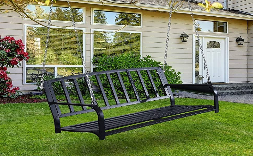 Already discussed swinging porch bench