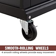 smooth rolling wheels