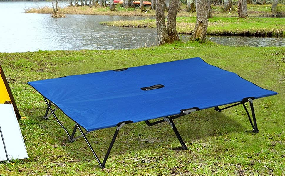 Amazon.com: Outsunny Portable Two Person Double Folding Camping