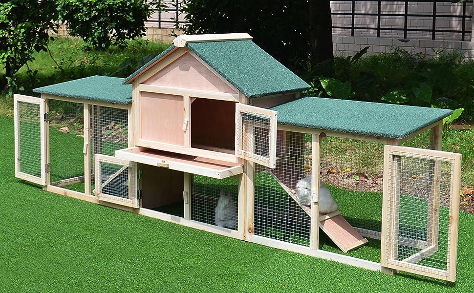 indoor inside furniture chicken coop extra large garden cottage painted big play yard backyard