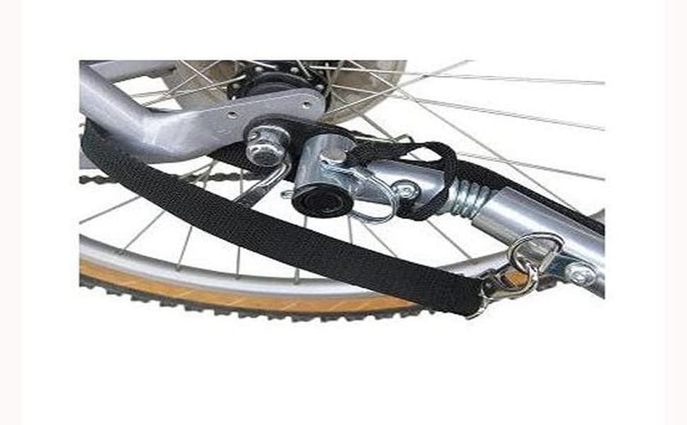 bicycle rack carrier tow attachment outdoor outside road off-road pet cargo child release
