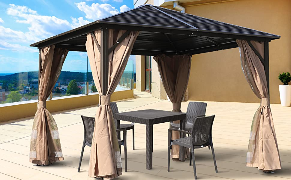 gazebo canopy seating party outside yard patio goods