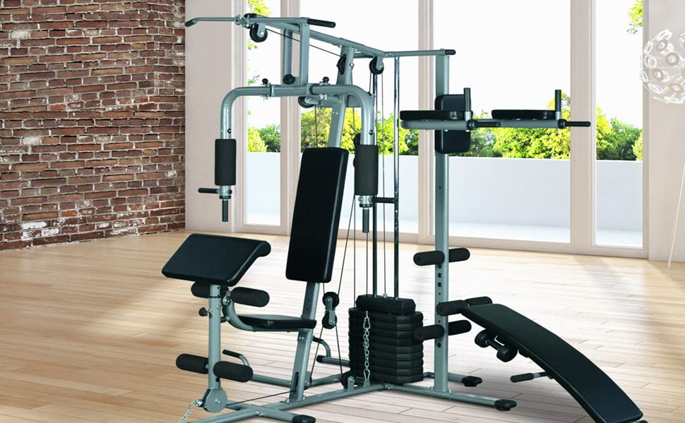 Amazon soozier complete home fitness station gym machine w
