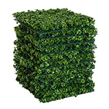 Color 2 Ruopei 12 Pieces 20 by 20 Artificial Boxwood Hedge Panel Green Grass Wall Backdrop mat for Wedding and Party Indoor Decoration
