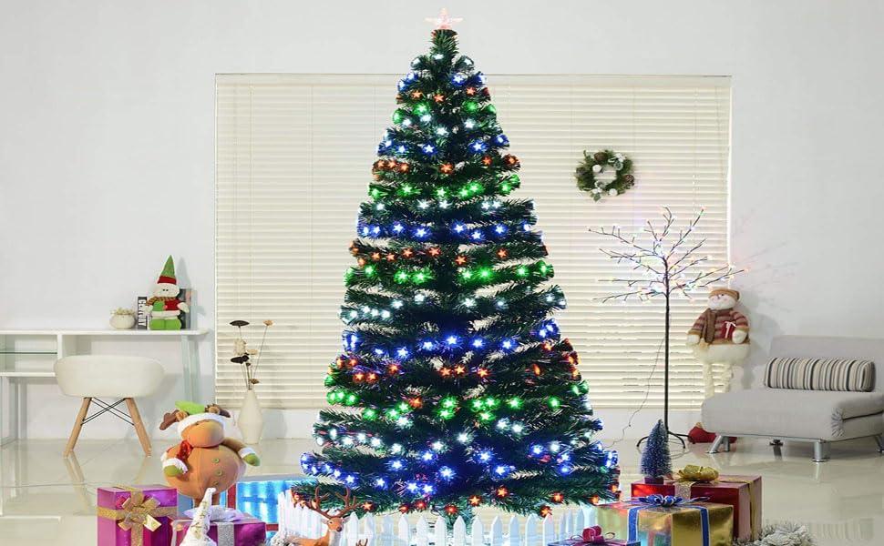 61a9d217f248 Fake Faux Realistic PVC Lighting Xmas Decorative Steel Stand Star Twinkling  Shining Ornament