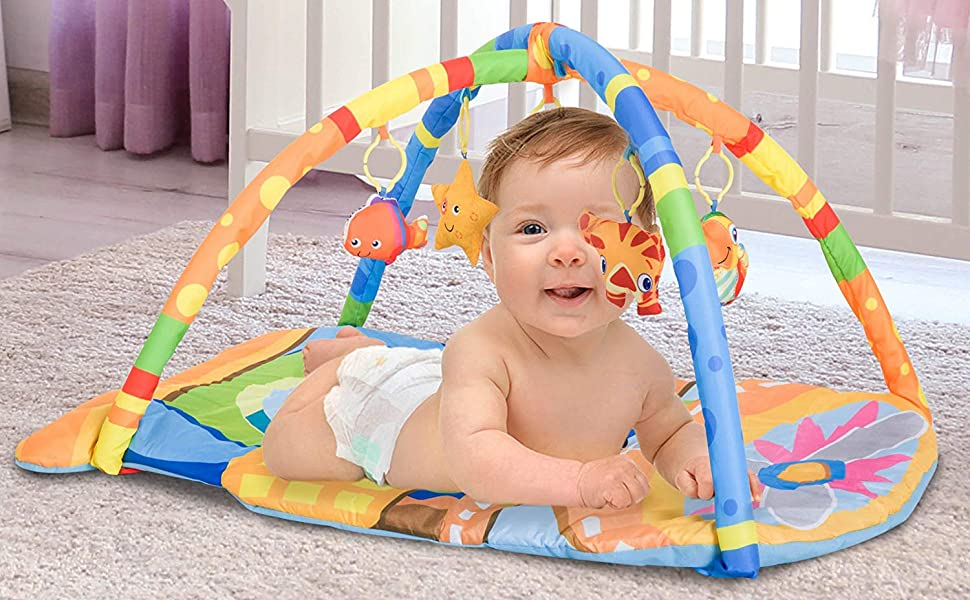 Baby Gear Baby Infant Fun Floor Gym soft panda toy mat Kids baby Play Tummy Time Activity Mat