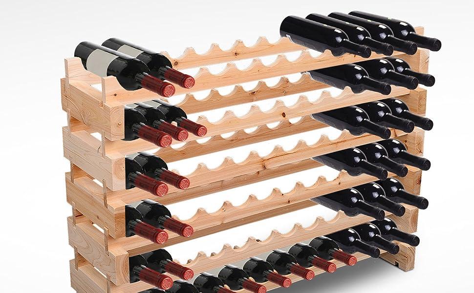 Attrayant Home Kitchen Furniture Goods Rust Solid Wood Natural Solid Sturdy Wine Rack  Storage Unit Elegant