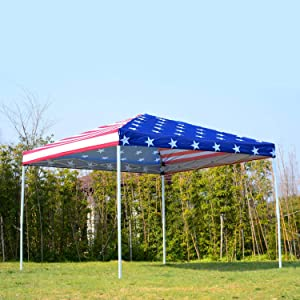 summer spring fall pop up tent canopy sun shade american flag print patriotic holiday sun shade