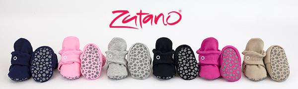zutano cotton gripper booties