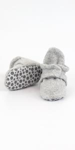 zutano cozie fleece gripper booties