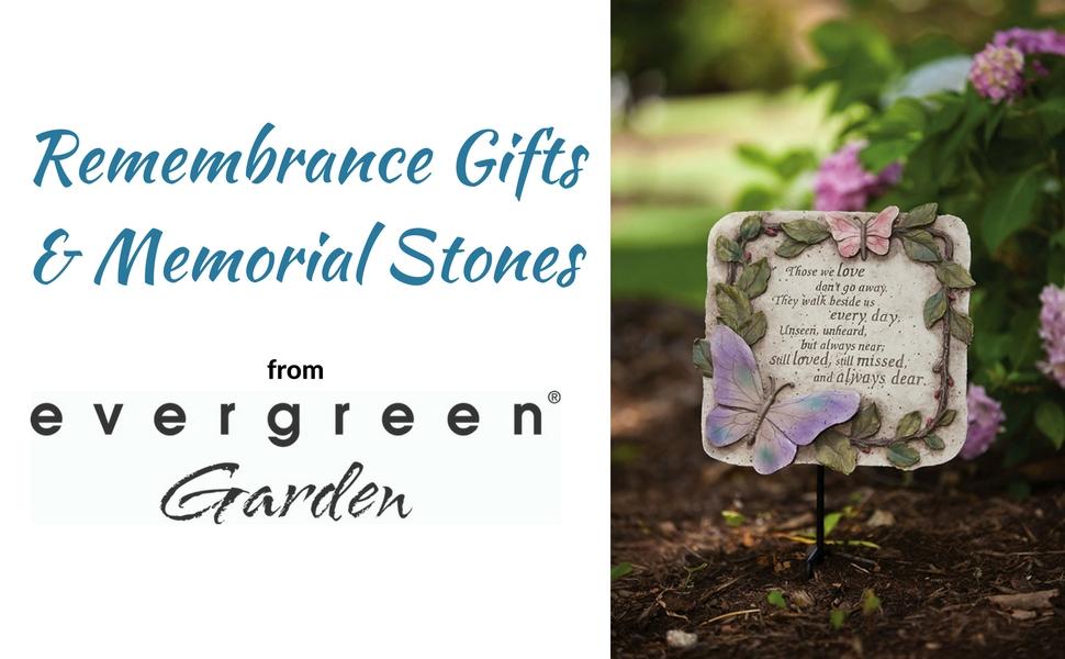 New creative evergreen garden those we love don 39 t go away polystone memorial for Garden memorials for loved ones