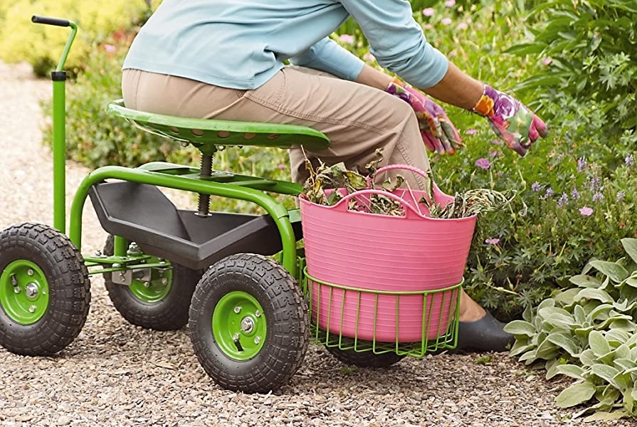 Our Gardeneru0027s Supply Deluxe Tractor Scoot Is Loaded With Features