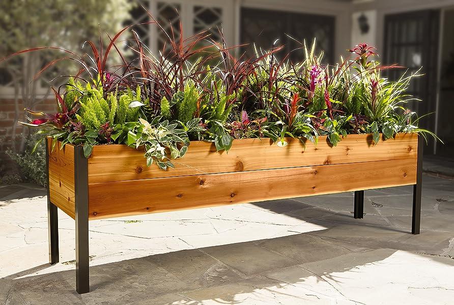 Amazon Com Gardener S Supply 2 Ft X 8 Ft Raised Garden