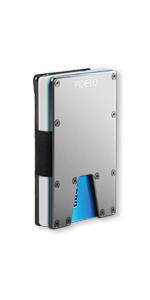 fidelo eclipse aluminum carbon fiber minimalist wallet slim credit card holder money clip for men