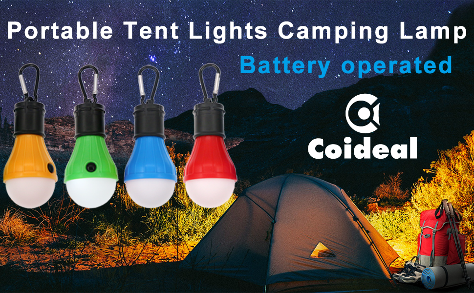 Coideal Tent Lights 4 Pack