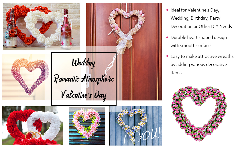 "2PC 10/""WIRE WREATH RING WIRE WREATH FRAME FOR XMAS WEDDING VALENTINE/'S DAY DECOR"