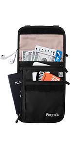 neck wallet for travel men women