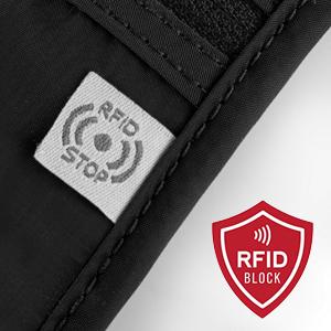Travel neck wallet rfid blocking