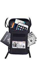 passport holder bag cell phone