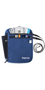 neck pouch for travel passport holder