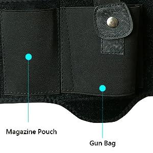 ankle pistol gun holster holder magazine pouch concealed carry glock tactical handgun