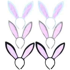 TopTie Easter Rabbit Headband Bunny Headwear Bunny Ear Halloween Party Supplies-White