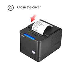 MUNBYN 80mm USB Pos Thermal Receipt Printer, with Large Paper Warehouse, Auto Cutter, Order Sound and Light Alarm, ESC/POS Command Support Windows Mac ...