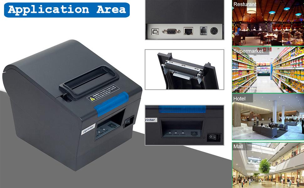 Amazon Com 3 1 8 80mm Thermal Receipt Pos Printer Munbyn