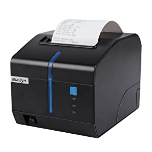 80mm Thermal Kitchen Printer, MUNBYN Receipt POS Network Printer with USB Serial Ethernet LAN Cash Drawer Windows Mac Driver,High Speed Printer ...