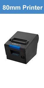 Amazon.com: MUNBYN Thermal Receipt Paper Rolls, 80mm 3 1/8 x ...