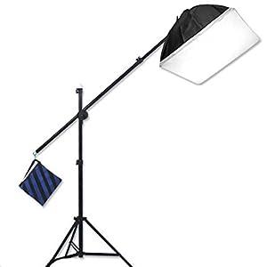 studiofx boom 400w hair light overhead light boom stand softbox lighting video