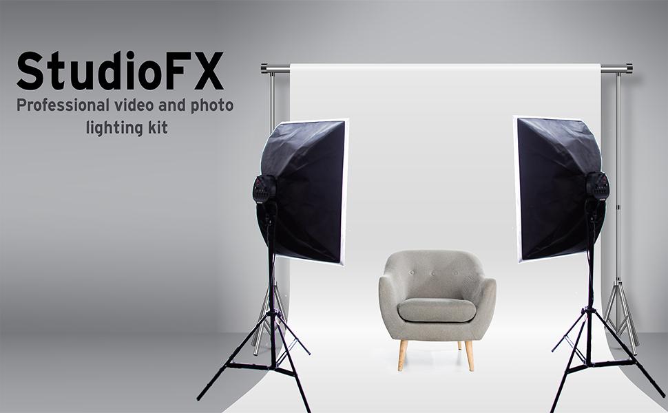 StudioFX 800W Photography 20x28 EZ Softbox with E27 Socket Light Lighting Kit H601S2 by Kaezi Set of 2