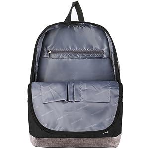 Water Resistant] Slim Durable College School Computer Bookbag