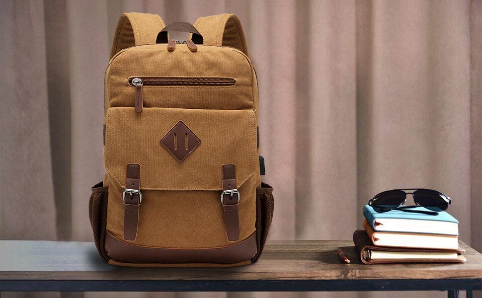 vintage messenger backpack for men