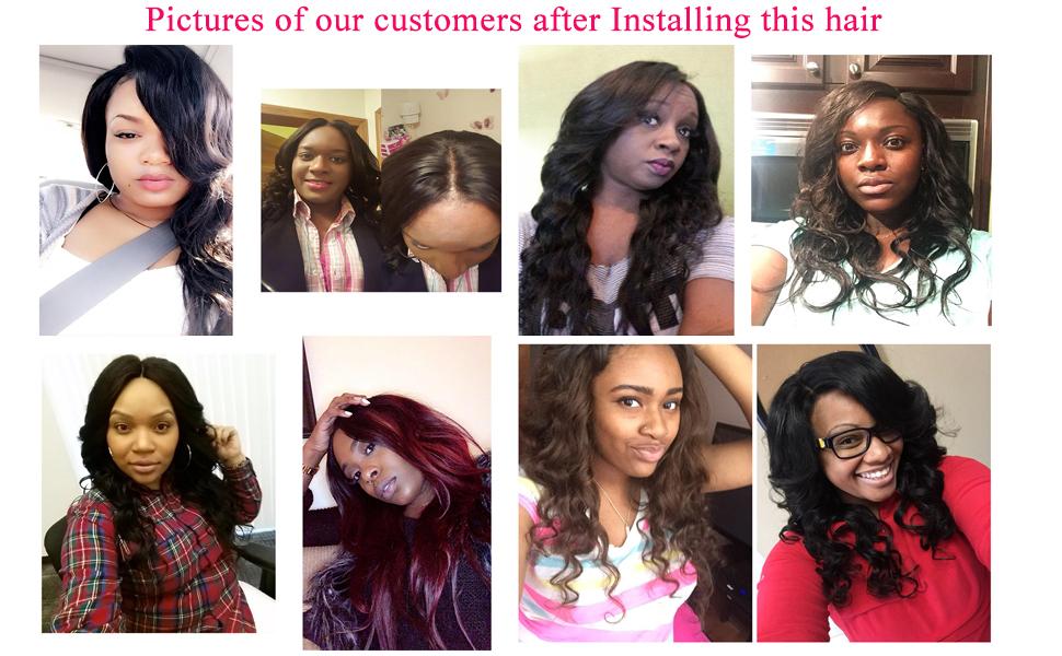 Amazon Jinren Tm Brazilian Virgin Hair With Closure