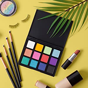 eyeshadow palette, eyeshadow, cleof cosmetics, cleof, bold colors, colorful
