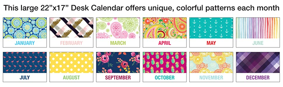 Large Desk Calendar Patterns