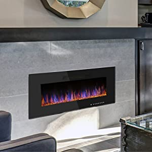 Amazon Com R W Flame 48 Electric Fireplace Recessed Wall Mounted