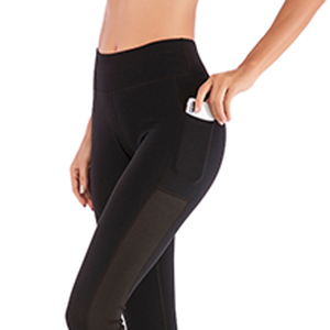 TXJ Sports Yoga Legging with Cell Phone Pockets Workout Pants Tummy Control Gym Running Yoga Pants for Girls Women