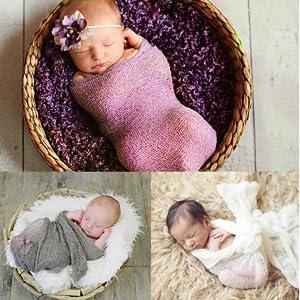 94db313f51f5 Amazon.com  Newborn Photography Props Newborn Baby Stretch Long ...