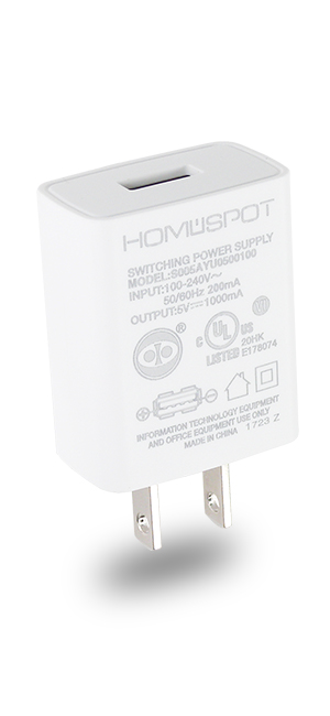 UL Certified USB Wall Charger Power Supply 5v 1A (1000mA) Universal Portable Travel Power Adapter Plug Block High Speed for iPhone iPad iPad Samsung ...