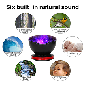 Ocean Wave Light Projector ocean wave projector & music player remote control night light with sound
