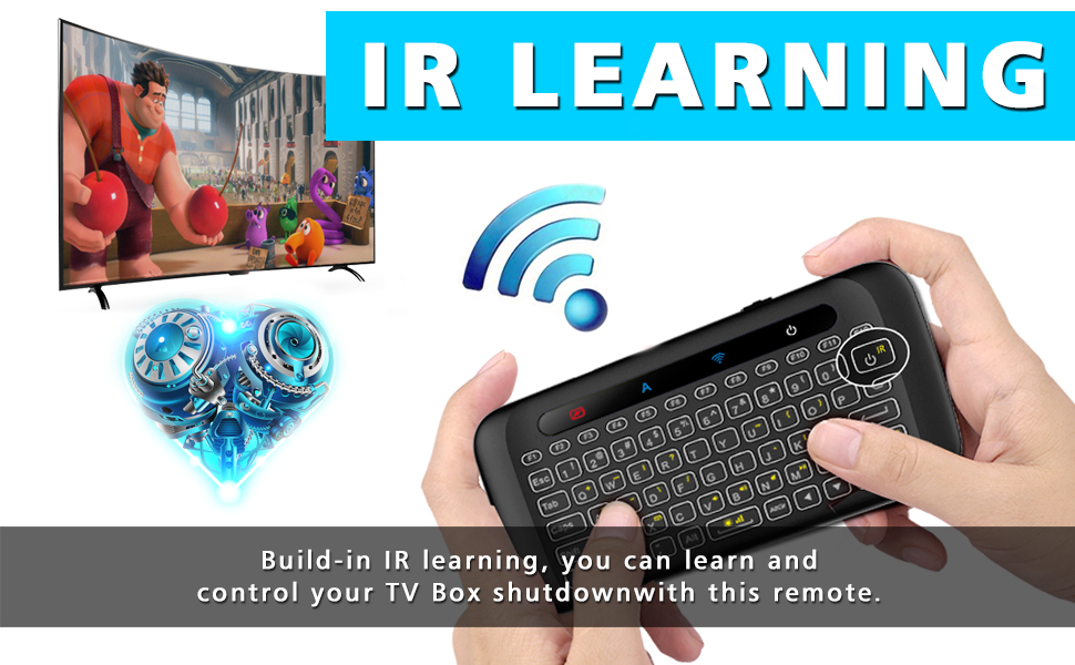Amazon com: H20 Wireless Mini-Keyboard Two-Sided Touch