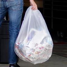 55-60 Gallon Unique High Density Blend trash bags prevents tears durability heaviest loads