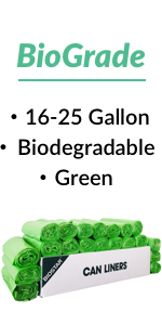 Reli. Biodegradable Trash Bags, 16-30 Gallon (Wholesale 500 Count) (Green)
